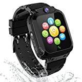 Smart Watch for Kids GPS LBS Tracker Phone, IP67 Waterproof Smartwatch Phone SOS Alarm Clock Camera Touch Screen Voice Chat Games Sports Smartwatch for 3-12 Year Old Boys Girls Birthday Gift