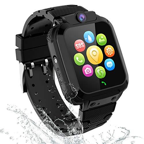 GPS Smartwatch Orologio Bambino - GPS Tracker Smartwatch Bambini Regalo per Ragazzi Ragazze, Kids Smartwatch con SOS Chiamata Voice Chat Camera Alarm Clock Localizzatore GPS Pedometro