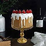6 Stüke Tortenständer Gold Kuchenständer Metall Dessert Display 3 Etagen, Ø 30cm Cupcake für Party Hochzeit Deko Vintage-Stil Gebäckwerkzeug - 4