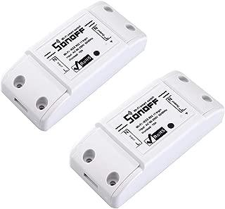 [2 pcs] SONOFF Basic WiFi Smart Switch, WiFi Smart Remote Control 10A DIY General Modification Power Shut with Smart APP