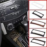 MYlnb Para Mercedes Benz C Class W 204 2011-14, ABS Chrome Car Center Aire Acondicionado Decoración Marco Ajuste Accesorios Interiores