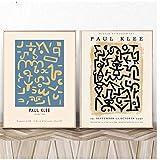NFGGRF Paul Klee Ausstellung Abstrakte Leinwand Malerei