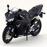 LYXin Modelo de Motocicleta de Metal Fundido a presión/Escala 1:12 / Supercross Yamaha YZF-R1 / Colección educativa/Regalo para niños-Negro