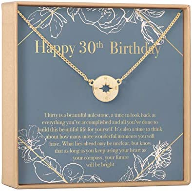 30th Birthday Gift Necklace Birthday Gift Jewlery Gift For Her Compass Gold product image