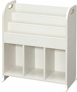 アイリスオーヤマ(IRIS) おもちゃ箱 オフホワイト 幅63×奥行34.7×高さ75.3cm 絵本ラック ER-6030