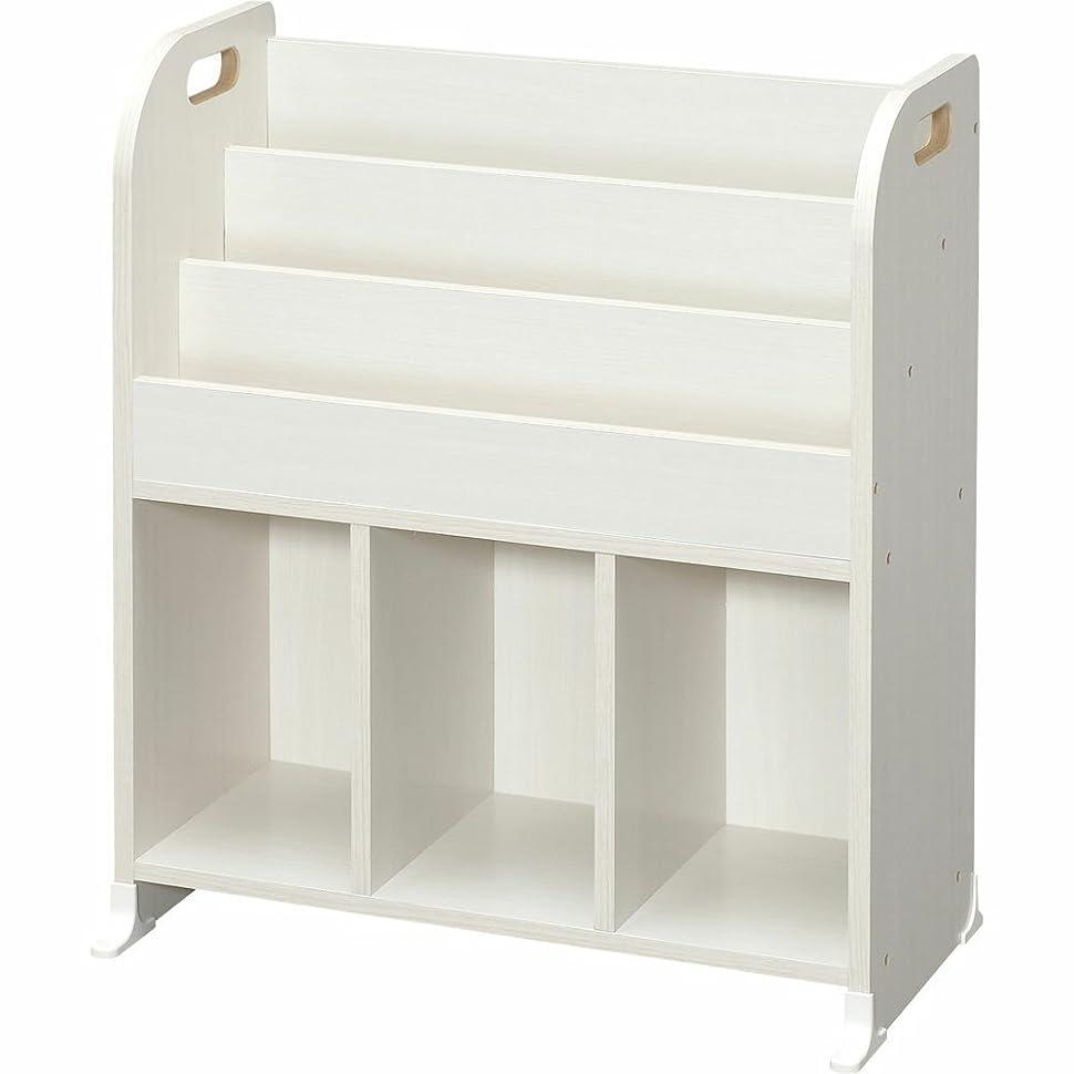 邪魔普通に私たちのアイリスオーヤマ(IRIS) おもちゃ箱 オフホワイト 幅63×奥行34.7×高さ75.3cm 絵本ラック ER-6030