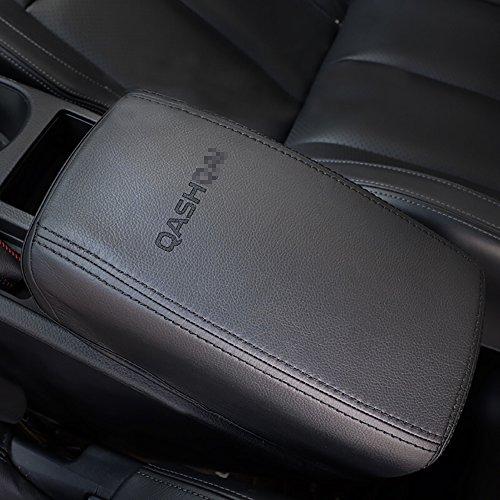 BeHave fsx6531w - Cubierta de la caja del reposabrazos del coche, cojín para consola central (negro con logotipo negro)