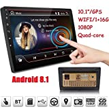 2019 Double Din Car Stereo,Android 8.1 Car Radio Stereo Audio Eonon 10.1 Inch Double Din, Quad-Core 16 ROM, Car GPS Navigation Head Unit,Support Bluetooth, WiFi Connection(NO DVD/CD)- GA2168K