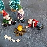 TBoxBo 4 Stück Mini Gartenzwerg Figur Feengarten Zwerge Elfe Figur Garten Zwerg für die Miniatur-Feengarten Garten Dekoration