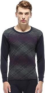 XFentech Men's Long Sleeves Top & Long Johns Pants Thermal Underwear 2 Pcs Set