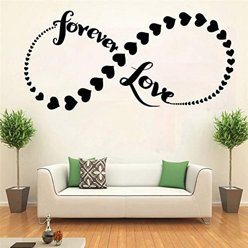 JXFM DIY Forever Love Signo de Infinito íntimo de una Sola Pared Calcomanía de Vinilo Pareja romántica Hombre y Mujer Decoración de Dormitorio Signo de Infinito 36x75cm