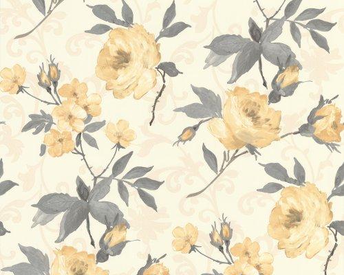 Landhaus 70 cm breit Vliestapete Landhaus Blumenmuster