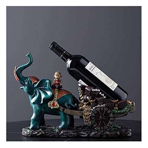 Botellero Elefante del Vino del Estante del sostenedor del Vino de la Botella de Vino Creativo estantes de Las Decoraciones del Interior del Vino Vino Estante