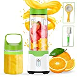 Portable Blender, TROPRO USB Handheld Blender Shakes and Smoothies, Travel Juicer, Fruit Mixer, Juice Cup, BPA Free, Home Office Beach Gym Sports (17.6oz +10oz)