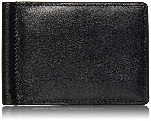 Price comparison product image Italian Bull Leather Executive Spring Tension Credit Card Money Clip Wallet