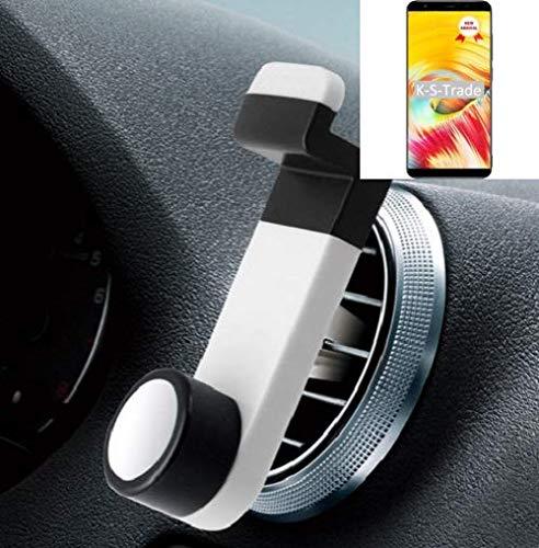 K-S-Trade Smartphone Halterung Autohalterung Kompatibel Mit Vernee T3 Pro Lüftungshalterung Handy Halter Lüftungsgitter Smartphonehalterung Weiß