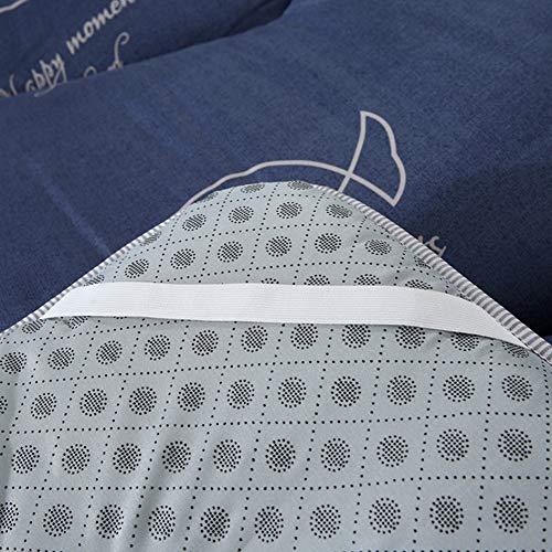 SALALIS Alfombrilla, colchón de Suelo, colchón de futón, Plegable, Resistente, de Alta Elasticidad, Tumbona, Cama Ligera para Dormitorio, Dormitorio(180 * 200CM)