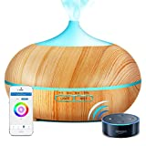 Sunfuny 500ml Smart Wifi Essential Oil Diffuser, 9 IN 1 Ultrasonic Aroma Diffuser