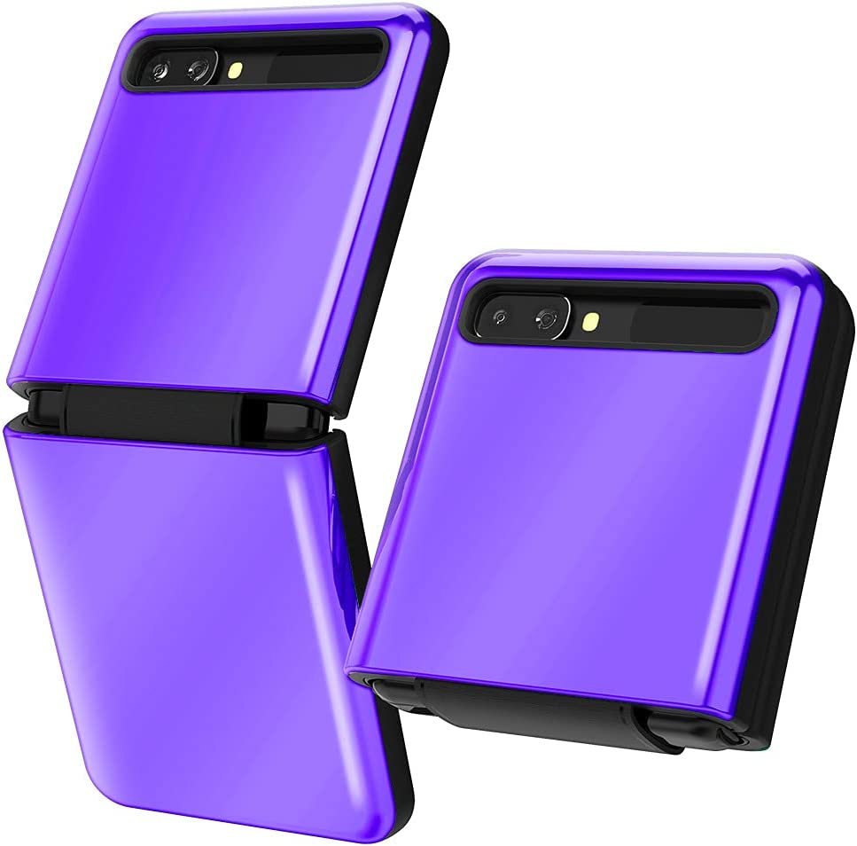 Goospery for Galaxy Z Flip Case (2020) with Hinge Coverage, Luxury 360 Protection TPU Bumper Glossy Hard PC Back Dual Layer Cover [Metallic Purple] ZFLIP-LST-PPL