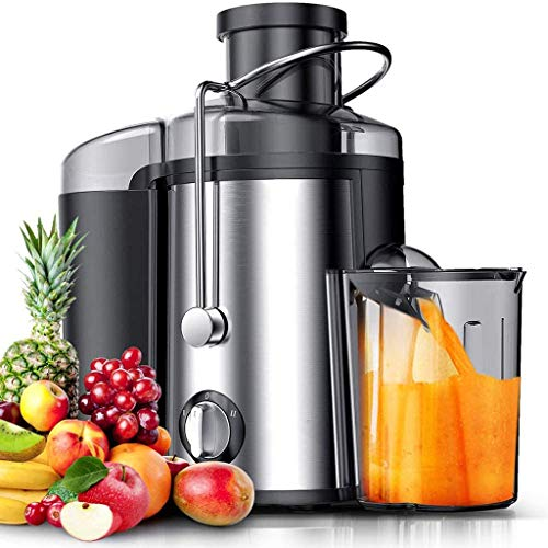 ASDF Juice Extractor, 65MM Wide Mouth Centrifugal Juicer Extractor with Dual Speed Control, Stainless Steel 1.6L Large Capacity, for Fruit and Vegetable
