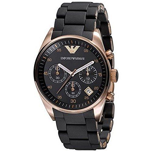 Emporio Armani AR5906 - Reloj de pulsera para mujer con esfera negra