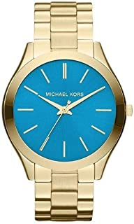 MK3265 Women's Slim Runway Gold-Tone Stainless Steel Bracelet Watch