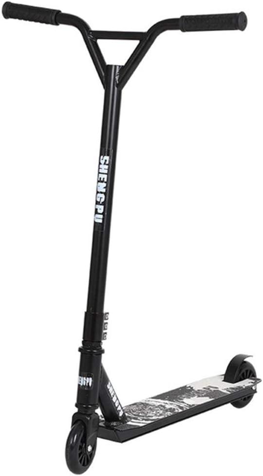 Pro Spin Street Scooter, Trick Jump Push Kick Scooter para mayores de 8 años, Ruedas de PU con cubierta ligera de aluminio Freno de la rueda trasera Soporte 220lbs para jóvenes y adultos