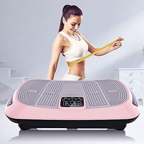 WEIZI Vibration Power Plate Máquina de Gimnasio Entrenador Fitness Máquina vibradora Plataforma oscilante Fitness Plataforma vibratoria oscilante Placa compacta compacta de vibración Ultrafina Ros