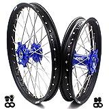 KKE 21 18 Wheels Set for SUZUKI DRZ400 00-04 DRZ400E 00-07 DRZ400S 00-20 DRZ400SM 05-18 Off Road Motorcycle Rims Blue Hub
