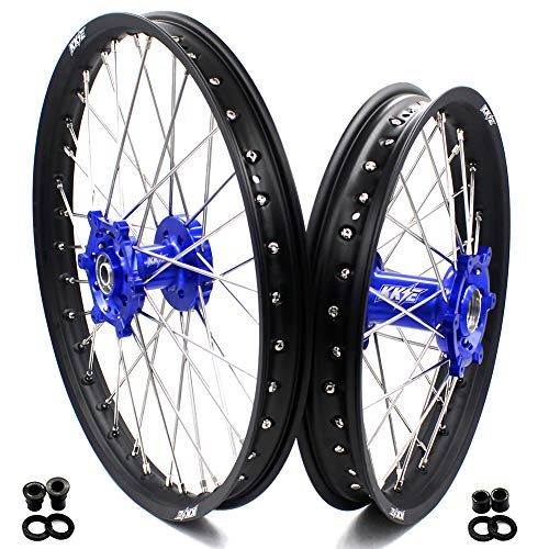 KKE 21 18 Wheels Set for SUZUKI DRZ400 00-04 DRZ400E 00-07 DRZ400S 00-18 DRZ400SM 05-18 Off Road Motorcycle Rims Blue Hub