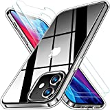 RANVOO Clear iPhone 12 Mini Case with 2 Screen Protectors, Protective and Shockproof [Full-Body Protection] Phone Case Cover with Soft TPU Bumper and Transparent Hard PC Back (5.4 inch)