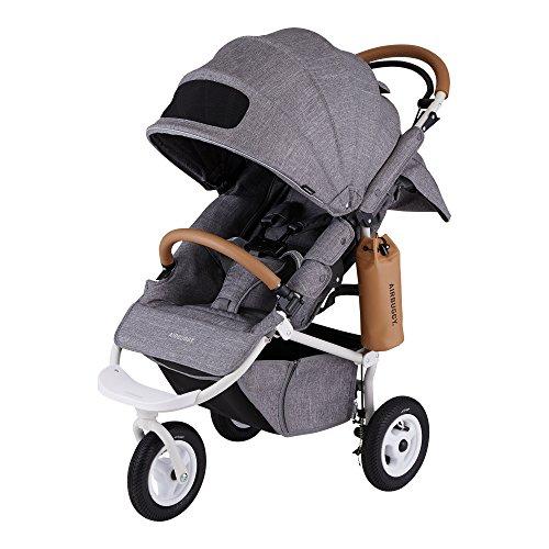 エアバギー AirBuggy ココ ブレーキ エクストラ フロムバース アースグレイ A型 3輪ベビーカー 新生児から使用可能 メッシュクッション内蔵・専用レインカバー付き ABFB1003