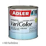 ADLER Varicolor 2in1 Acryl Buntlack für Innen und Außen - 125 ml Weiß Weiß - Wetterfester Lack und Grundierung für Holz, Metall & Kunststoff - Seidenmatt