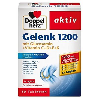 Doppelherz Gelenk 1200 – Mit Vitamin C zur Unterstützung der normalen Funktion von Knorpel und Knochen – 1 x 30 Tabletten