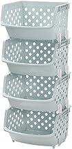 Stojak do przechowywania owoców i warzyw Podłoga do przechowywania w kuchni Wielowarstwowy plastikowy domowy pojemnik do p...