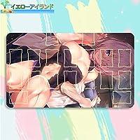 イエローアイランド カードゲームプレイマット 遊戯王 プレイマット Fate/Grand Order フェイト グランド オーダー FGO マシュ・キリエライト マウスパッド 収納ケース付き TCG万能 アニメ 萌え カード枠あり (60cm * 35cm * 0.2cm)
