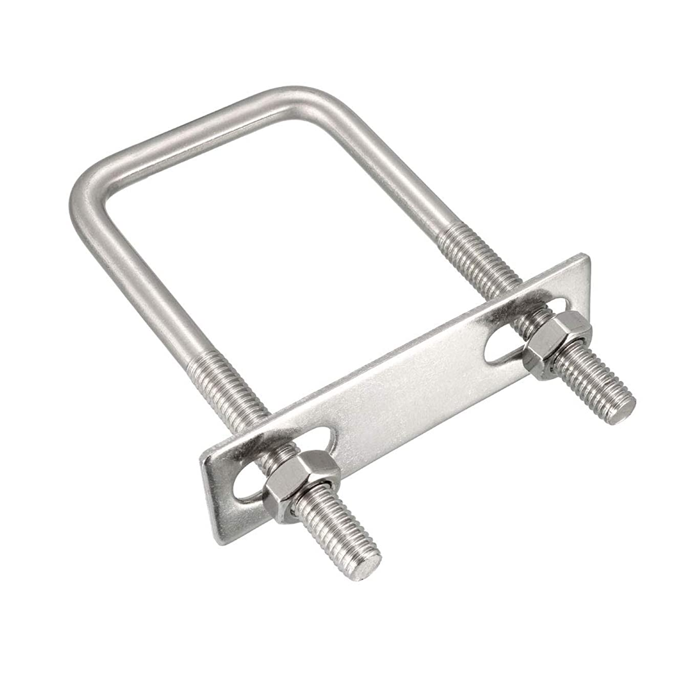 uxcell Square U-Bolts M8 50mm Inner Width 304 Stainless Steel with Nuts Frame Straps