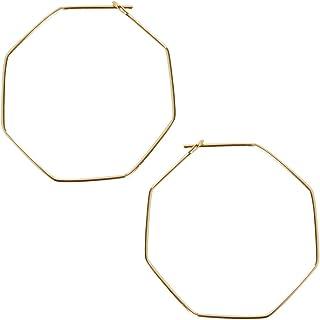 Threader Hoop Earrings for Women - Hypoallergenic Lightweight Thin Wire Dainty Drop Dangles in Heart,