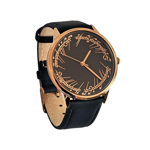 Il Signore degli Anelli - Orologio da polso da uomo 'L'unico orologio' Elbenwald cinturino in pelle