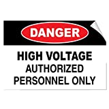 Danger High Voltage Authorized Personnel Only Hazard Label Decal Sticker 10 Inches X 7 Inches
