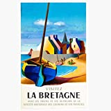 Unbekannt Poster Bretagne Reproduktion – Format 50 x 70