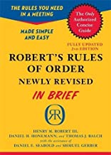 Robert's Rules of Order Newly Revised In Brief, 2nd edition (Roberts Rules of Order in Brief) PDF