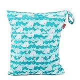 Damero Bolsa de Pañales Reutilizable, Bolsa de Cambio de Pañal para Bebes Impermeable, Bolsa para la Ropa de Bebé para pañales, ropa sucia y más