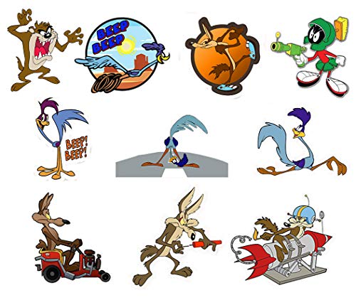 GTOTd Stickers for Road Runner Wile E. Coyote Dynamite Jeep 4x4''. Sticker Bumper Stickers Vinyl Decal Sticker Pack (10 Pcs)