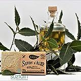 Alepia: Savon d'Alep Authentique 40% 190g; Fabriqué en France; Cosmos NAT certifié; Huile de baie laurier; Hydrate & Douceur la peau