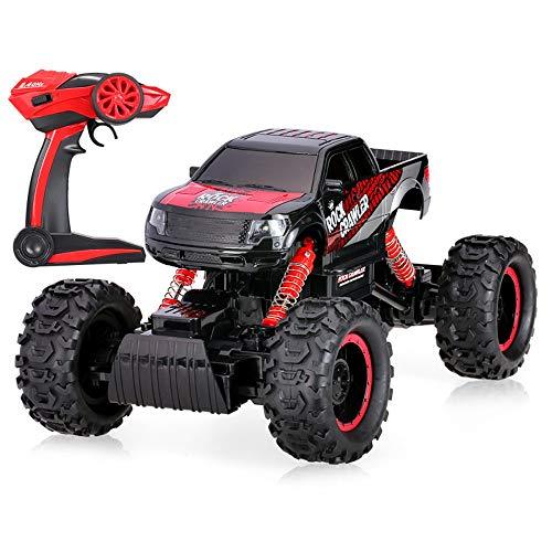 Moerc Remoto recargable Toy de Control de Rock Crawler Camión 2.4G 1:14 escala 4wd anticolisión Medio Bigfoot Potente RC Buggy niños de coches de juguete coche de deriva y anticolisión Boy modelo de j