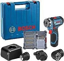 Bosch Professional 12V System Akku Bohrschrauber GSR 12V-15 FC (inkl. 1x2.0 Ah Akku, Ladegerät GAL 12V-20, 3x...