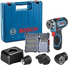 Bosch Professional 12V System Akku Bohrschrauber GSR 12V-15 FC (FlexiClick System, mit Bohrfutteraufsatz GFA 12-B, 1x 2,0 ...