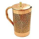 Jarra de almacenamiento de agua de cobre 100% puro, 1500 ml, para servir vajilla, regalos
