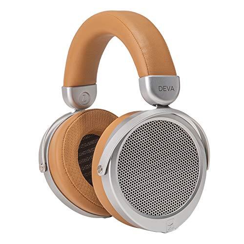 HIFIMAN Deva (Wired Version) Over-Ear Full-Size Open-Back Planar Magnetic Hi-Fi Headphone, for Audiophiles/Studio, Comfortable Headband, Great Sounding, Stereo/Balanced-Brown/Beige